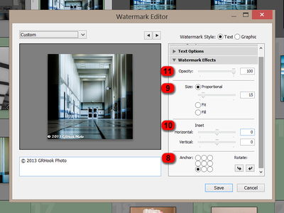 Watermark Editor: Watermark Effects