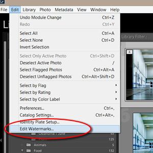 Edit / Edit Watermarks...
